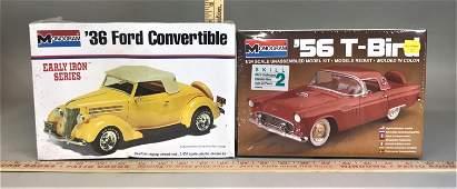 2 Monogram 1:24 Model Kits '36 Ford Convertible '56