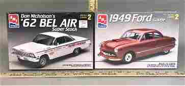 2 AMT Ertl 1:25 Model Kits '62 Bel Air '49 Ford Coupe