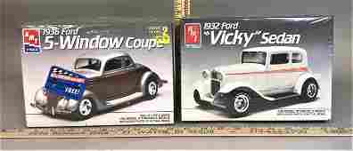 2 AMT Ertl 1:25 Model Kits '36 Ford Coupe '32 Ford
