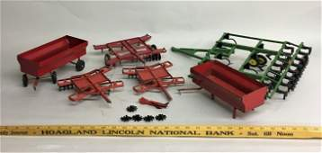 Group of Vintage Farm Toy Accessories