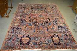 Hand Knotted Persian Khorasan Pictorial Rug, c.1920
