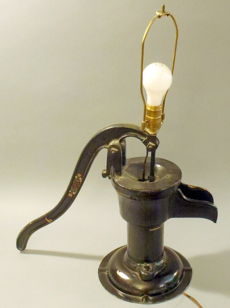 Pitcher pump lamp