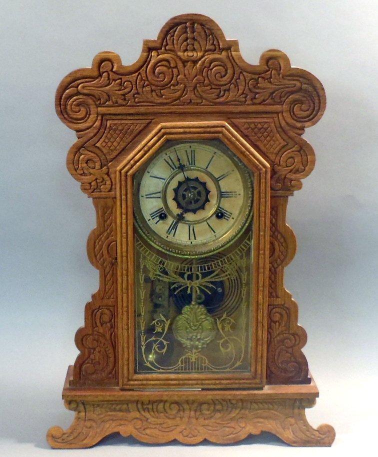 Waterbury Gingerbread style mantle clock