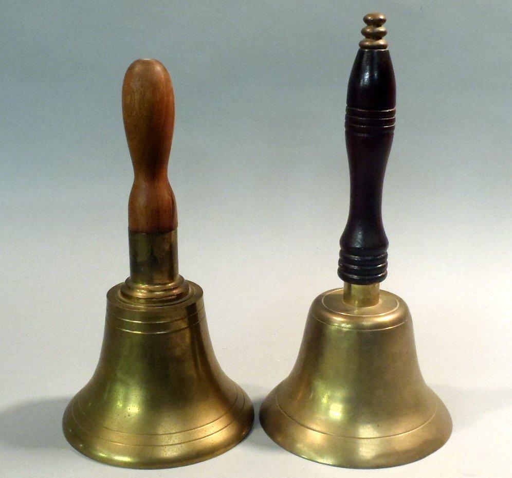 Pair of large brass bells.