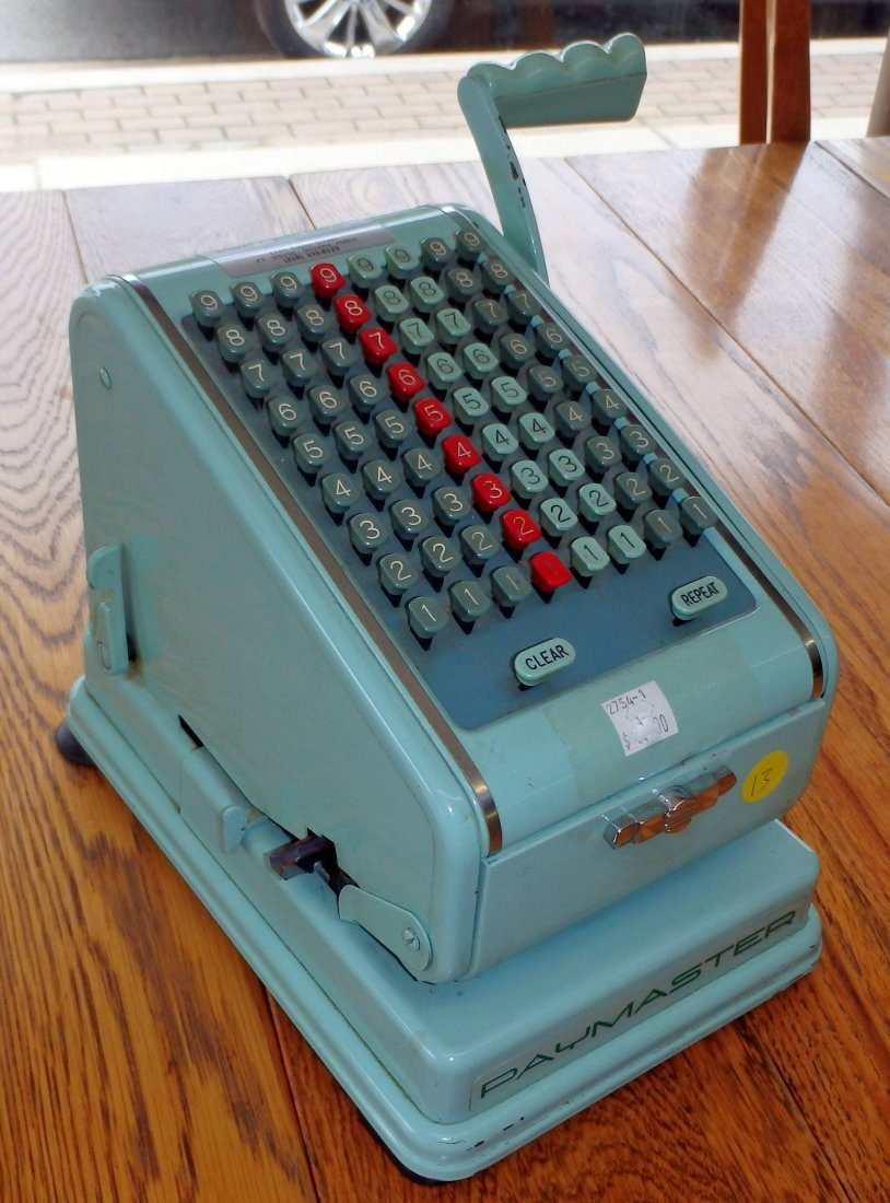 Vintage Paymaster Adding Machine w/ Keys