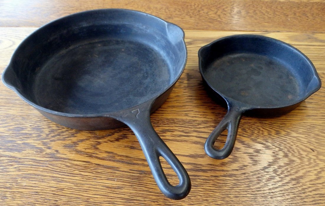 Lot of 2 Cast Iron Skillets