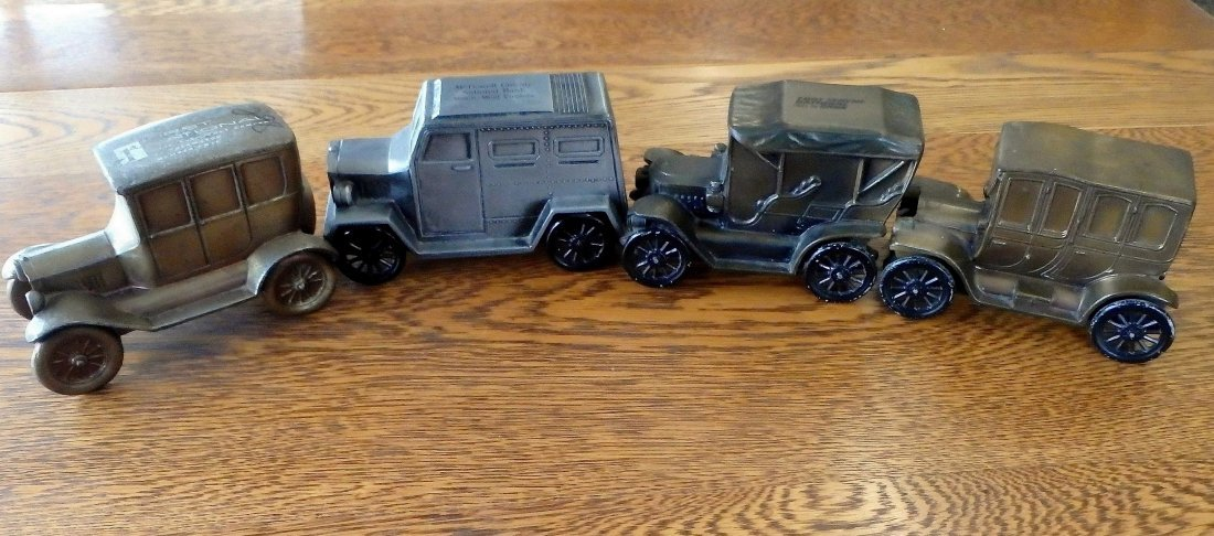 Lot of 4 Souvenir Bank Cars