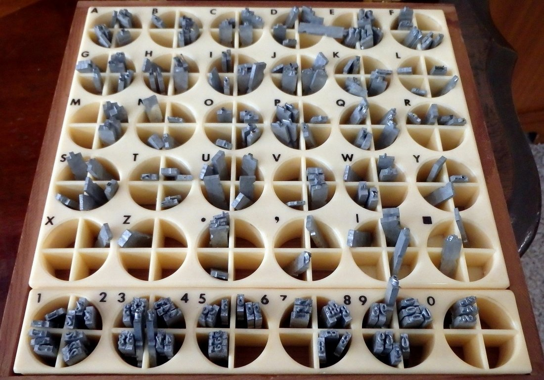 Kingsley Stamping Machine Press Type and Holders - 4