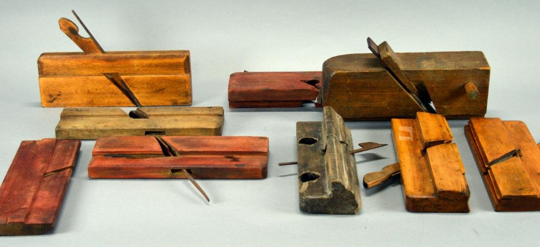 9 Assorted Wood Planes