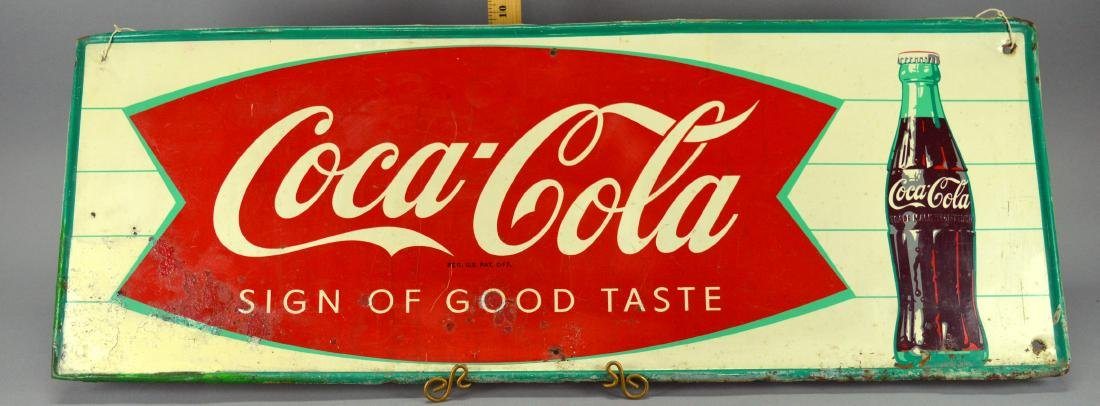 Coca-Cola Enameled Metal Sign