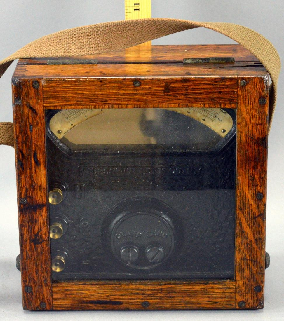 Wilson-Maeulen Co. Meter In Wood Case With Glass Top