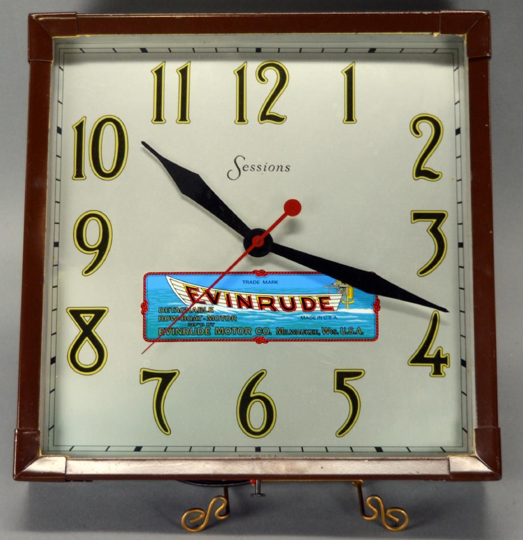 Evinrude Clock Made By Sessions
