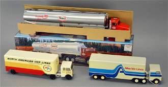 Lot Of 3 Toys - Ralston Truck, Mar Tar Truck, & Texaco
