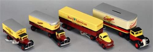 Lot Of 4 Toys- 4 Ertl & Hartoy North American Van Lines