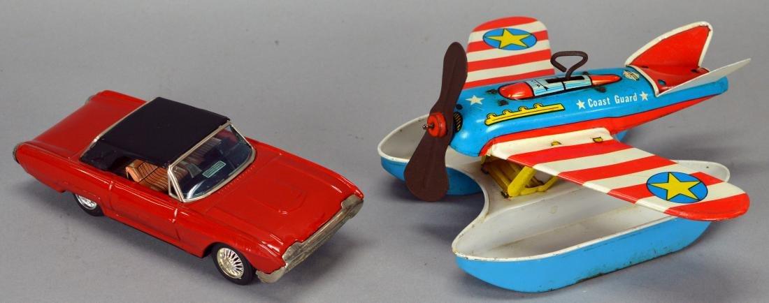 NK Toys Ford Thunderbird & Ohio Art Tin Litho Coast