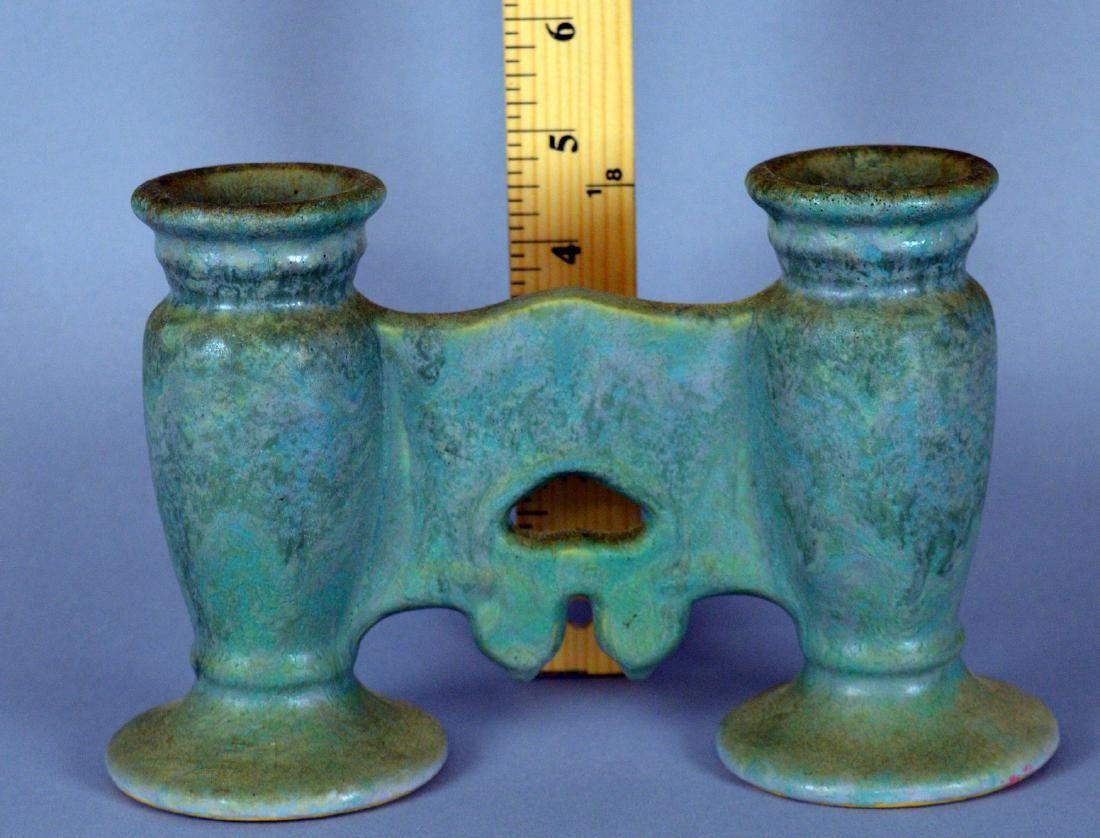 Roseville Carnelian Double Bud Gate Vase