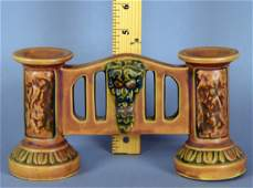 Roseville Florentine Double Bud Gate Vase