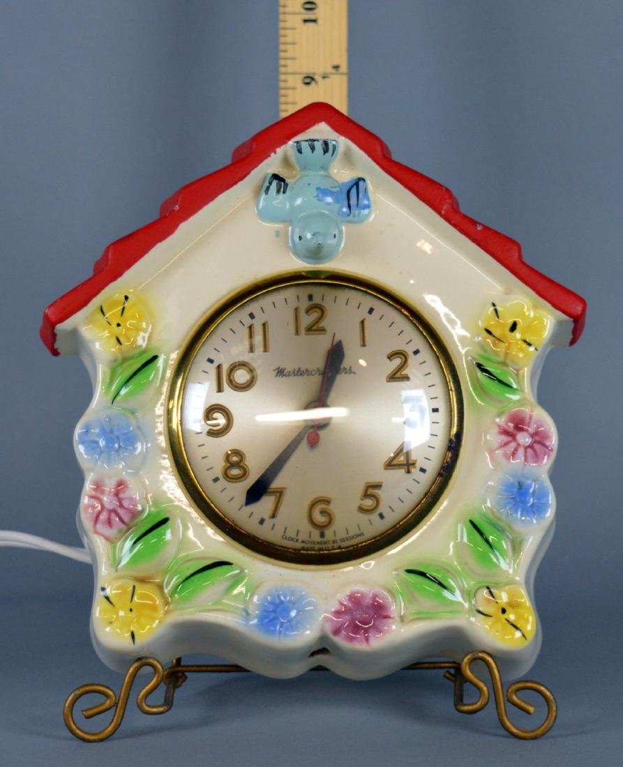Hull Pottery Bluebird Clock