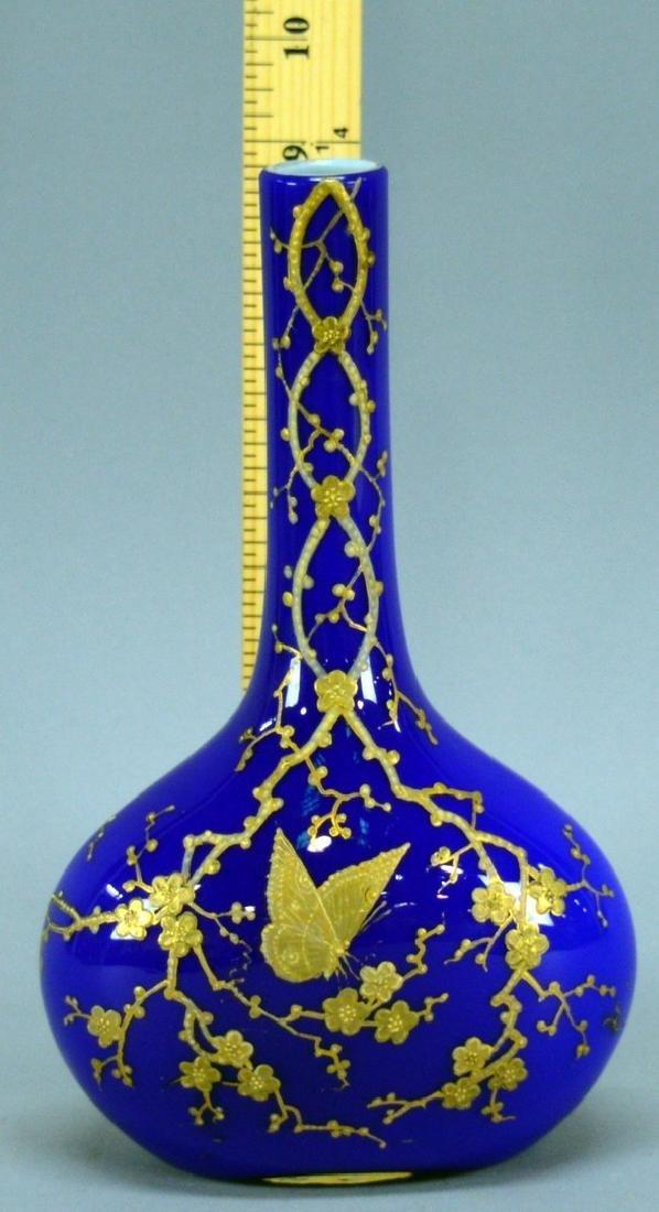 Gold Enameled Cased Glass
