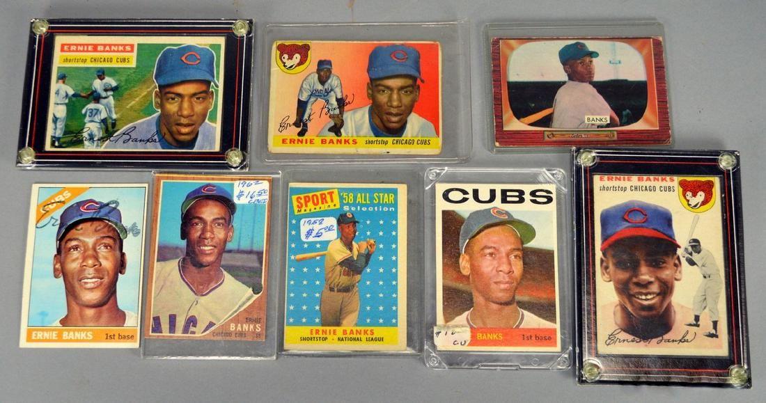 Lot of Ernie Banks Baseball Cards