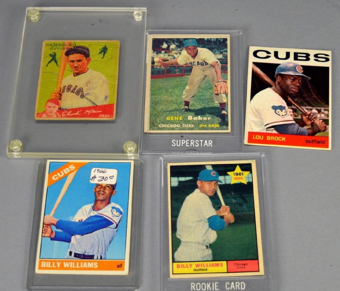 Lot of 5 Baseball Cards