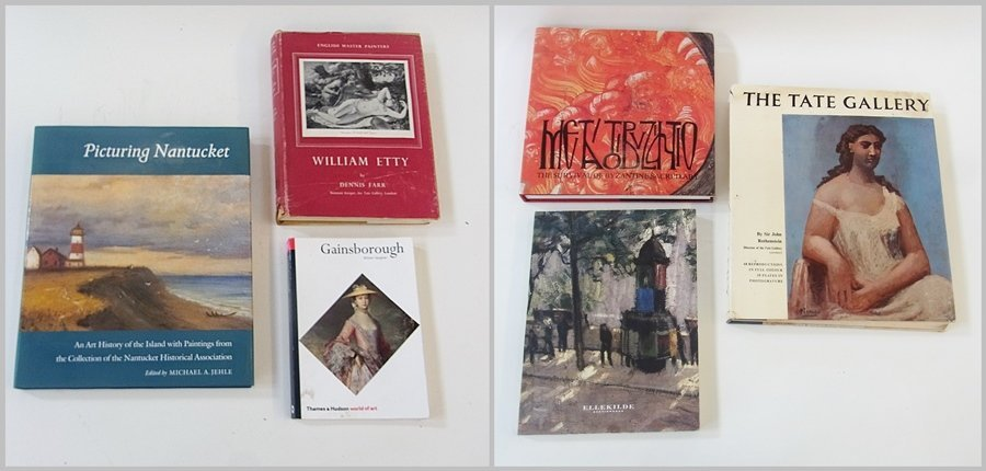 Various books relating to art, including ''Picturing Na