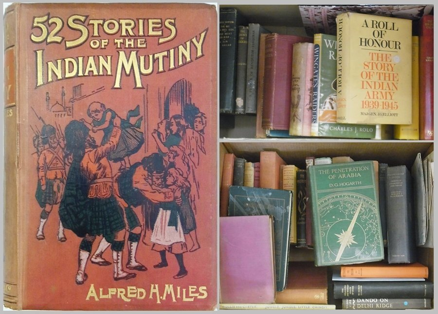 A large quantity of books relating to India, Indian His