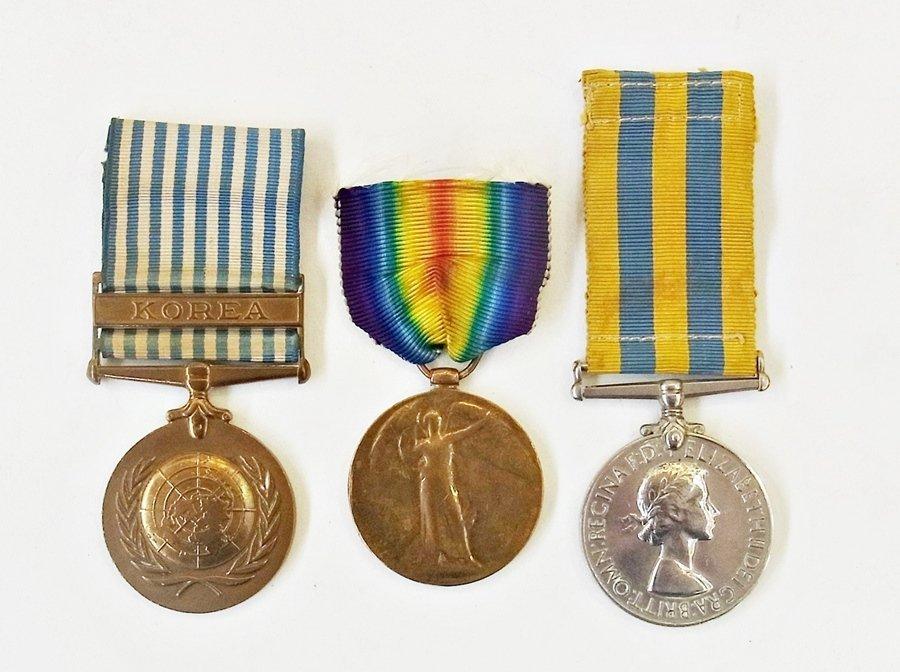 Korean Medal named to:- 22184326. Pte. M.E.C. Morriss.