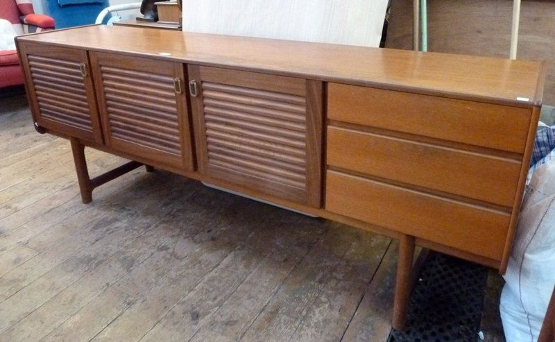 1960s A. H. McIntosh & Co. sideboard, comprising three