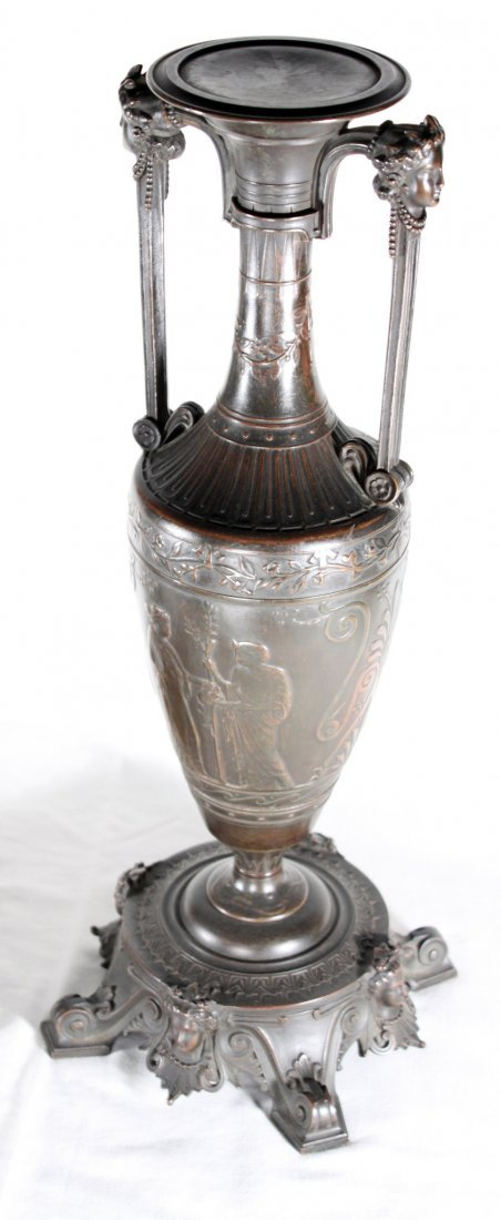 After Henry Cahieux Bronze Urns