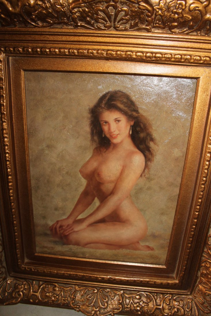 Painting in Antique Frame - Unknown Artist