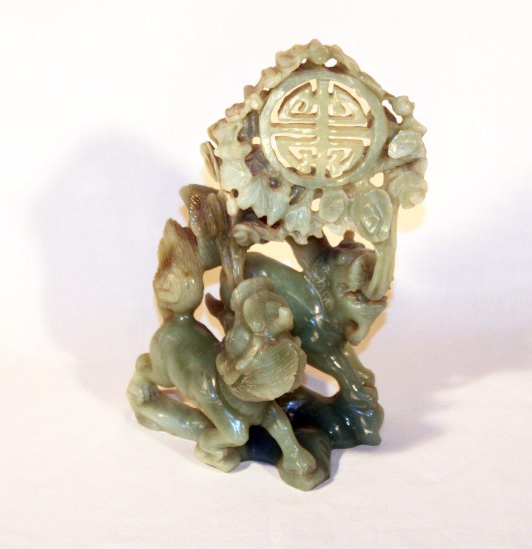 Jade Dragon Figurine