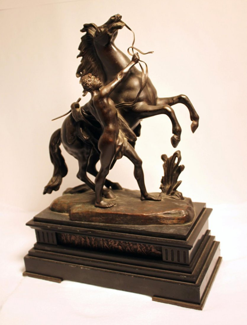 Bronze Guillaume Coustou Marley Horse on Base -