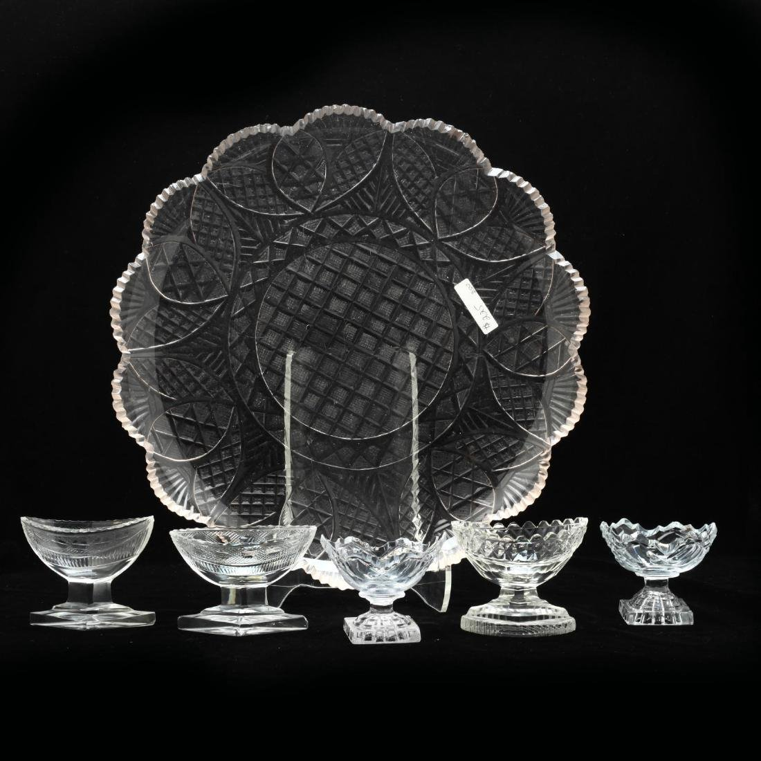 Group of Brilliant Cut Glass