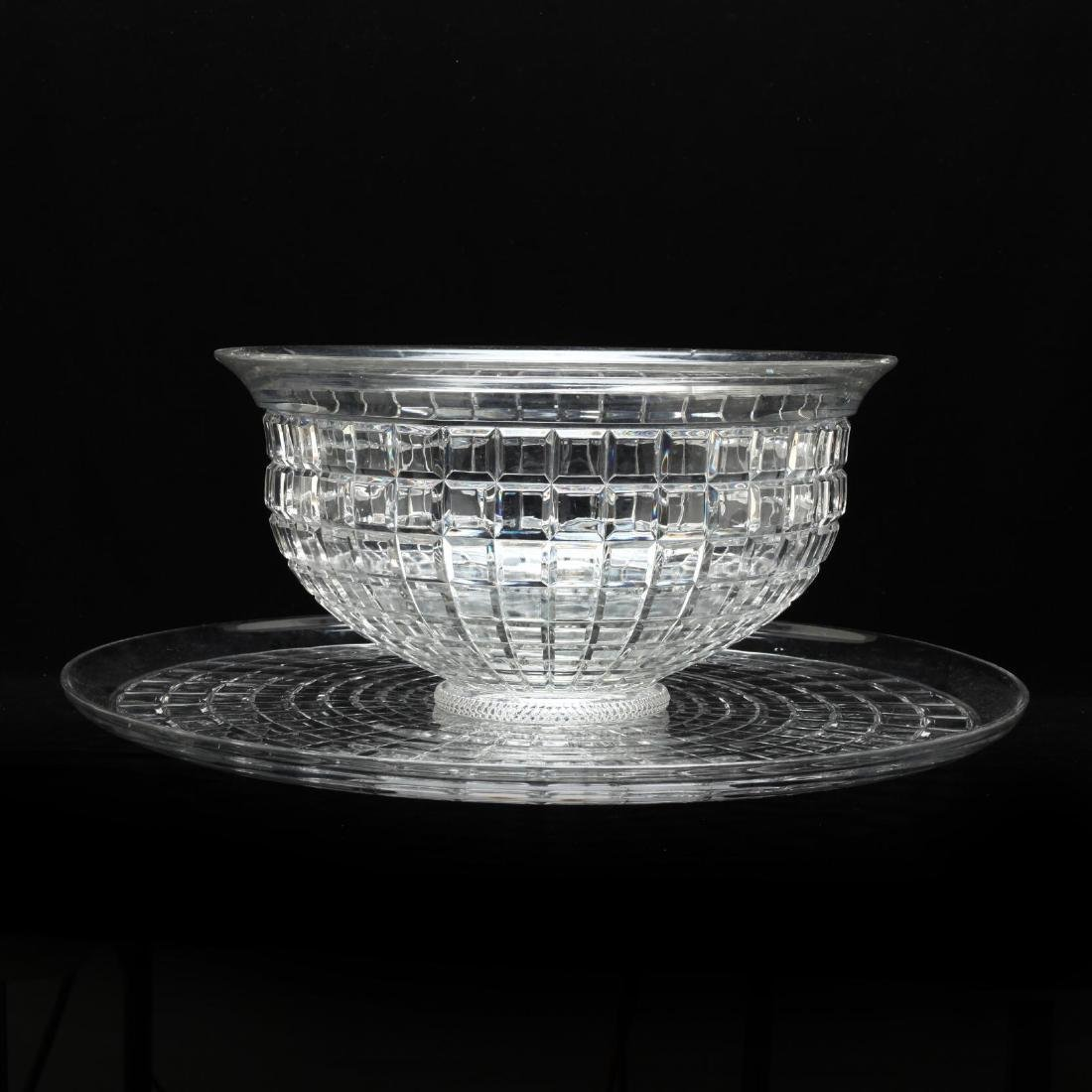 Heisey Glass Punch Bowl and Underplate