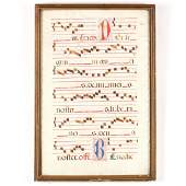 Antiphonal Manuscript Leaf on Vellum 16th Century