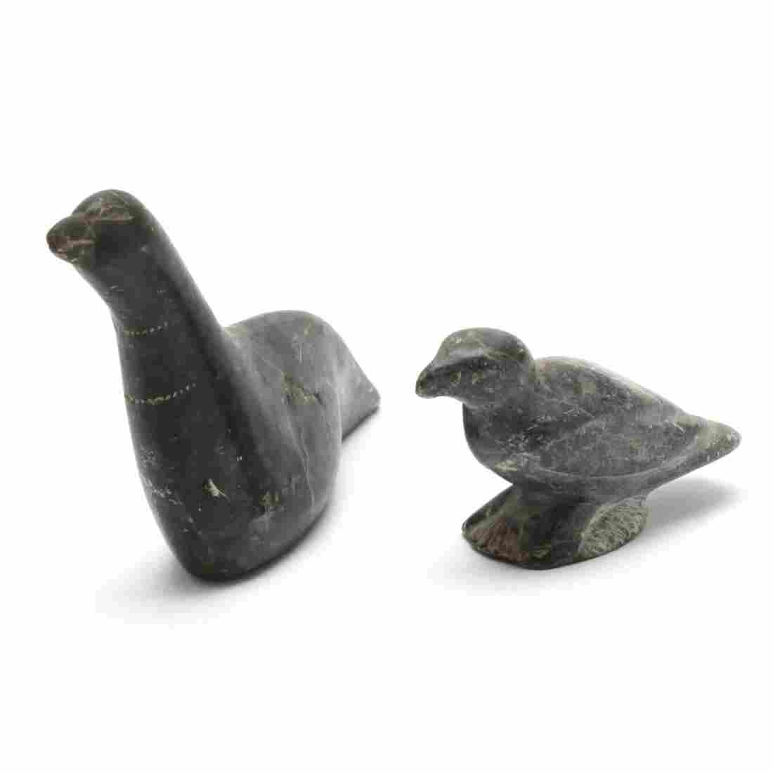 Two Inuit Carved Stone Sculptures