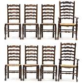 Set of Eight Custom Welsh Style Dining Chairs