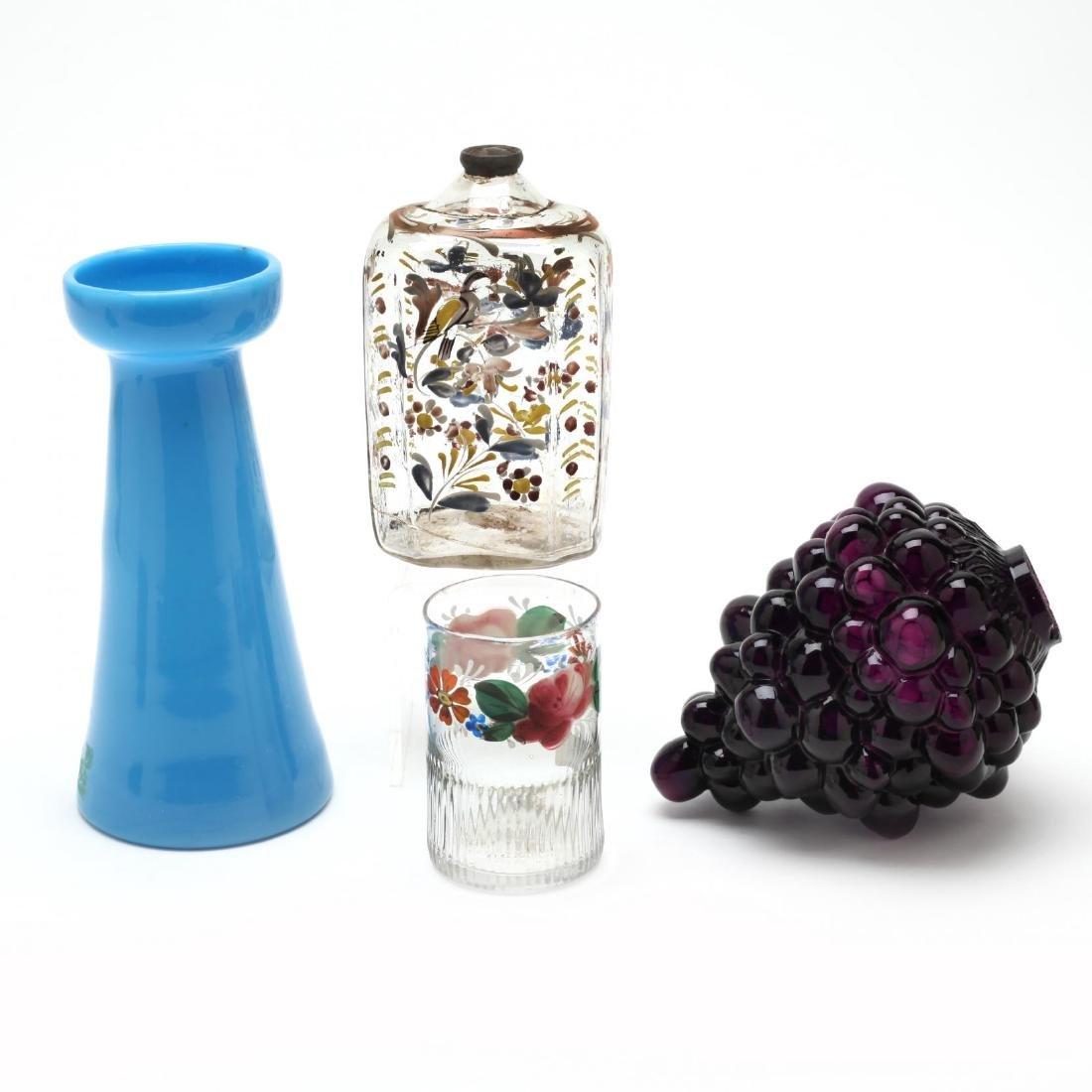 Four Antique Glass Items