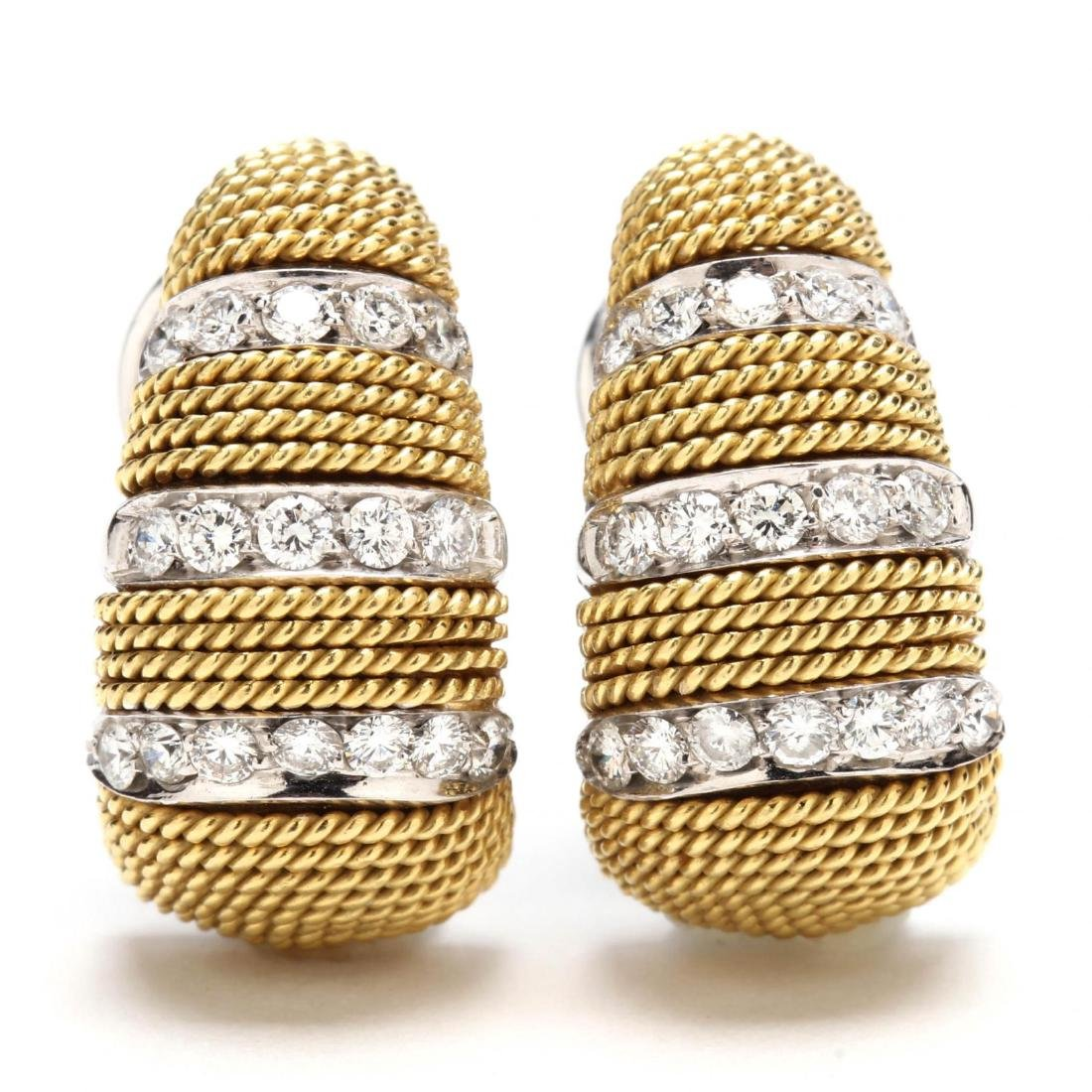 18KT Gold and Diamond Earrings, Harpo's