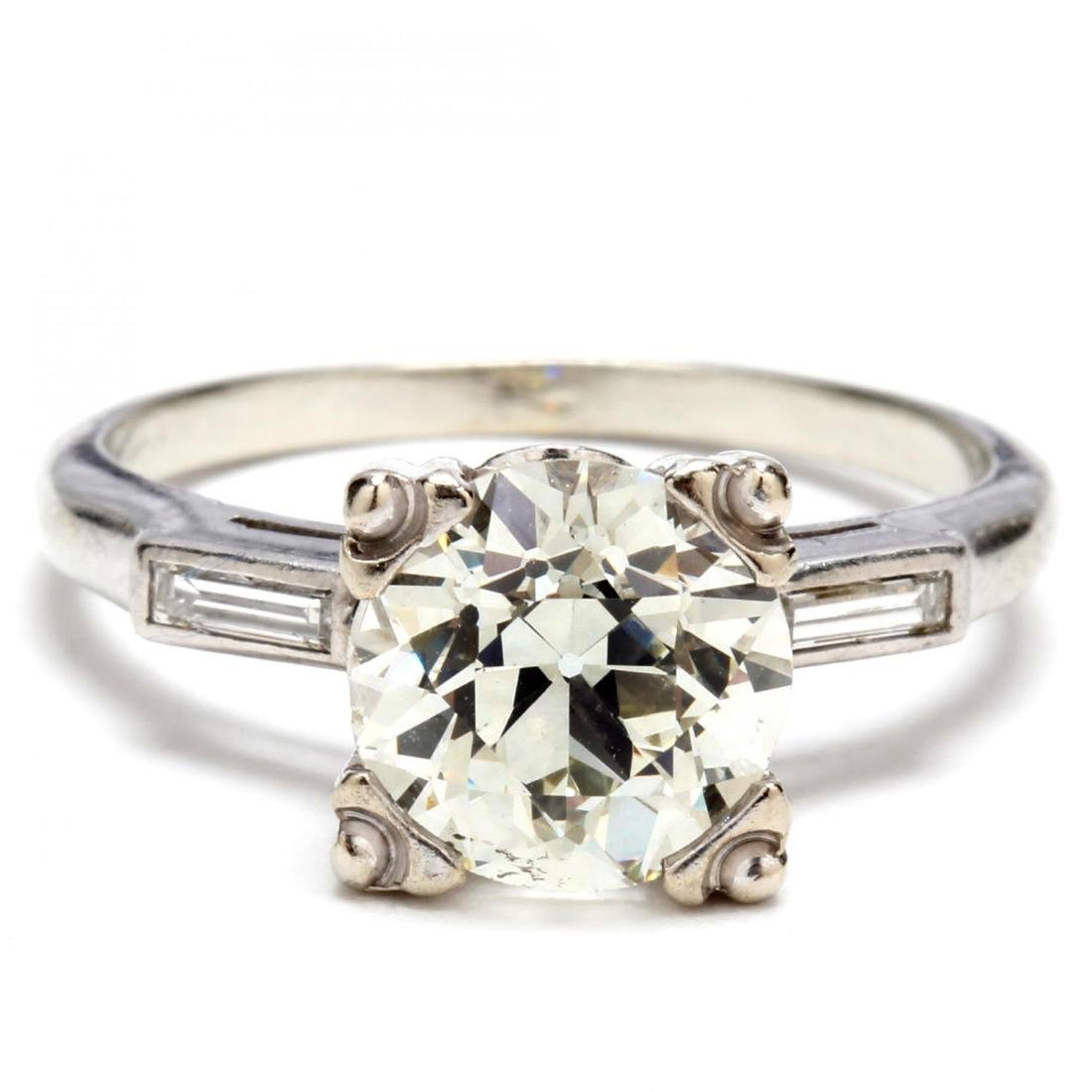 Old European Cut Diamond and 18KT Gold and Diamond Ring