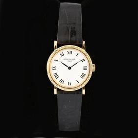 Lady's 18KT Gold Calatrava Watch, Patek Philippe