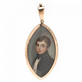 Portrait Miniature of a Young Gentleman, British