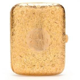 14KT Gold Cigarette Case