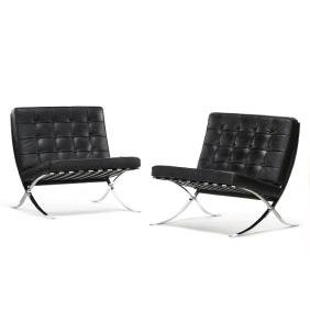 Mies van der Rohe, Pair of Barcelona Chairs