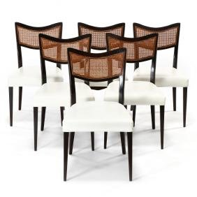 Harvey Probber, Set of Six Dining Chairs