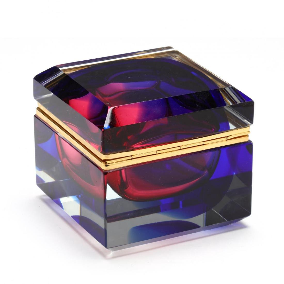Mandruzzato, Sommerso Art Glass Box for Art Guild - 3