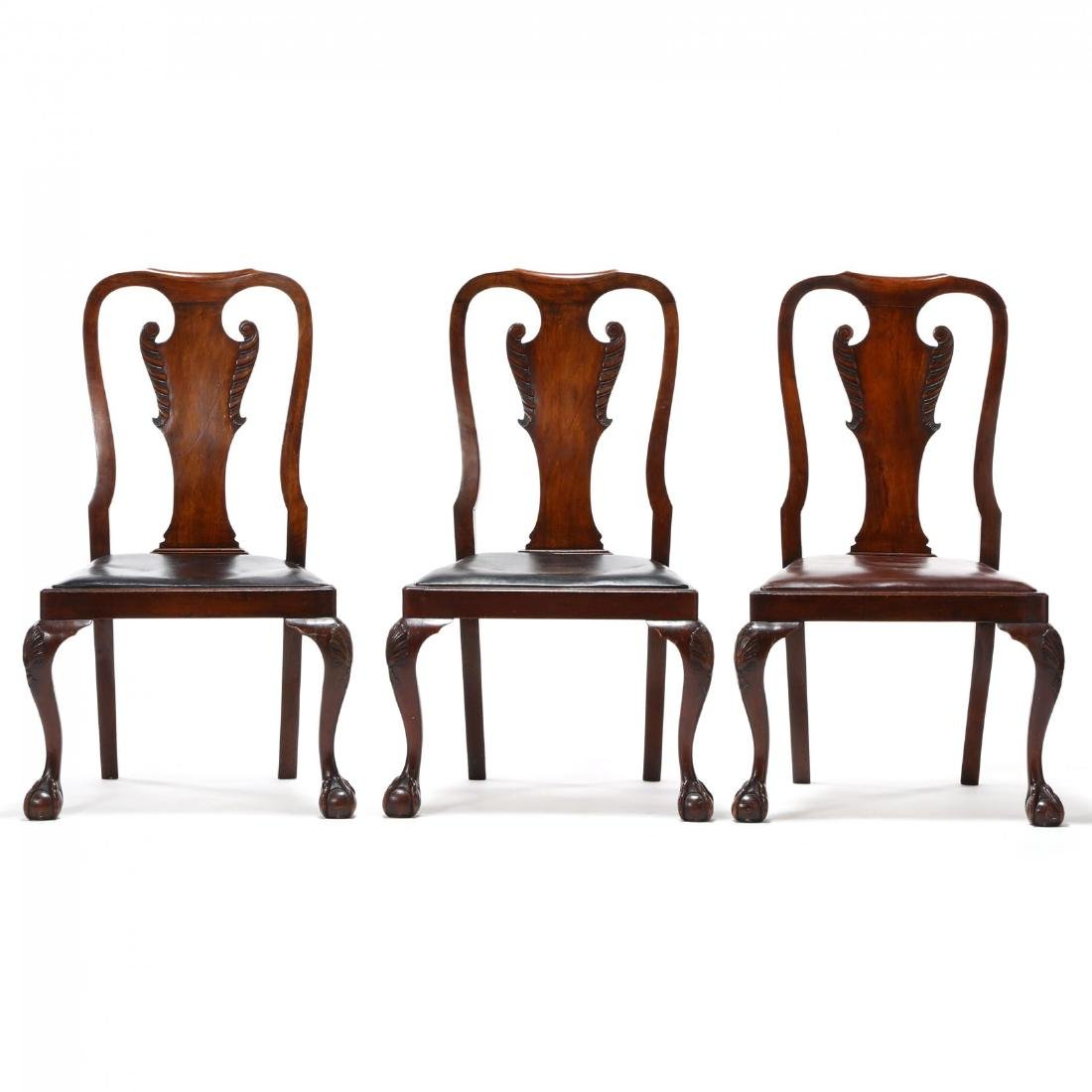 Set of Eight Chippendale Style Carved Dining Chairs - 2