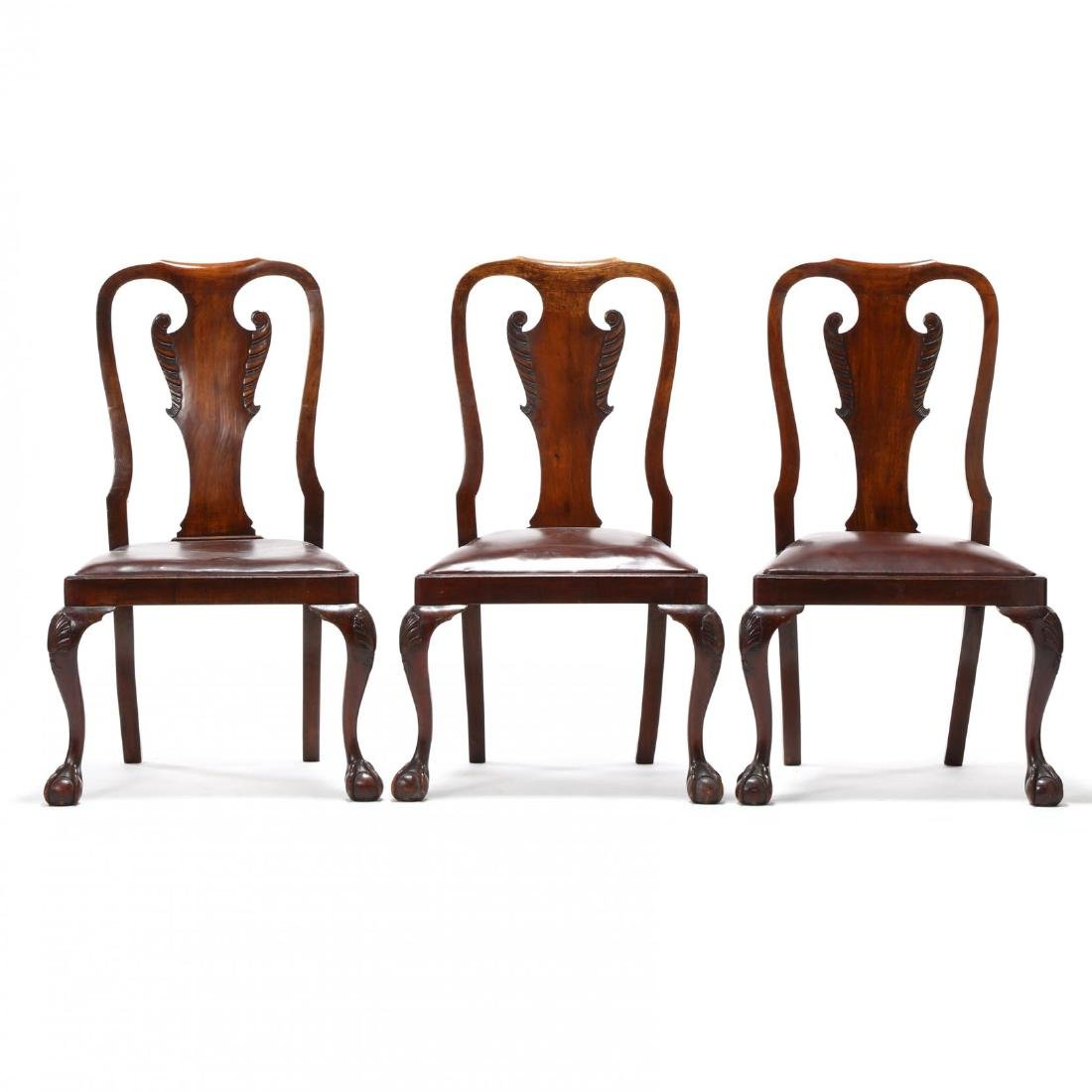Set of Eight Chippendale Style Carved Dining Chairs - 3