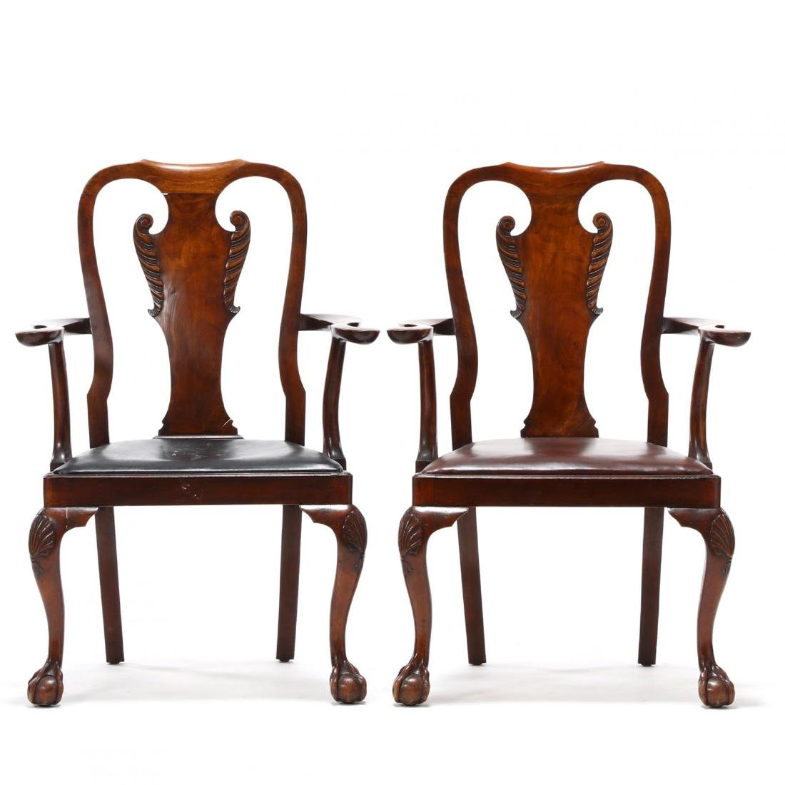 Set of Eight Chippendale Style Carved Dining Chairs - 4